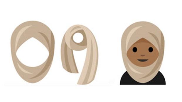Akıllı telefonlara'başörtülü kadın' emojisi