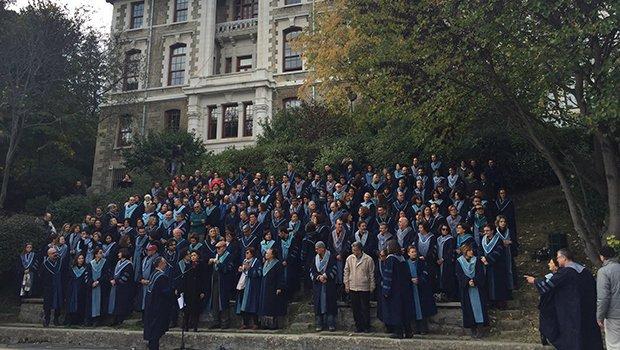 VİDEO HABER | Boğaziçi Üniversitesi'nde KHK protestosu