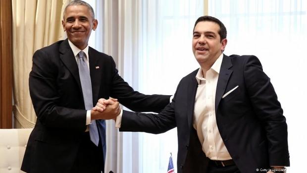 Obama giderayak Yunanistan'da konuştu, Çipras el pençe divan durdu