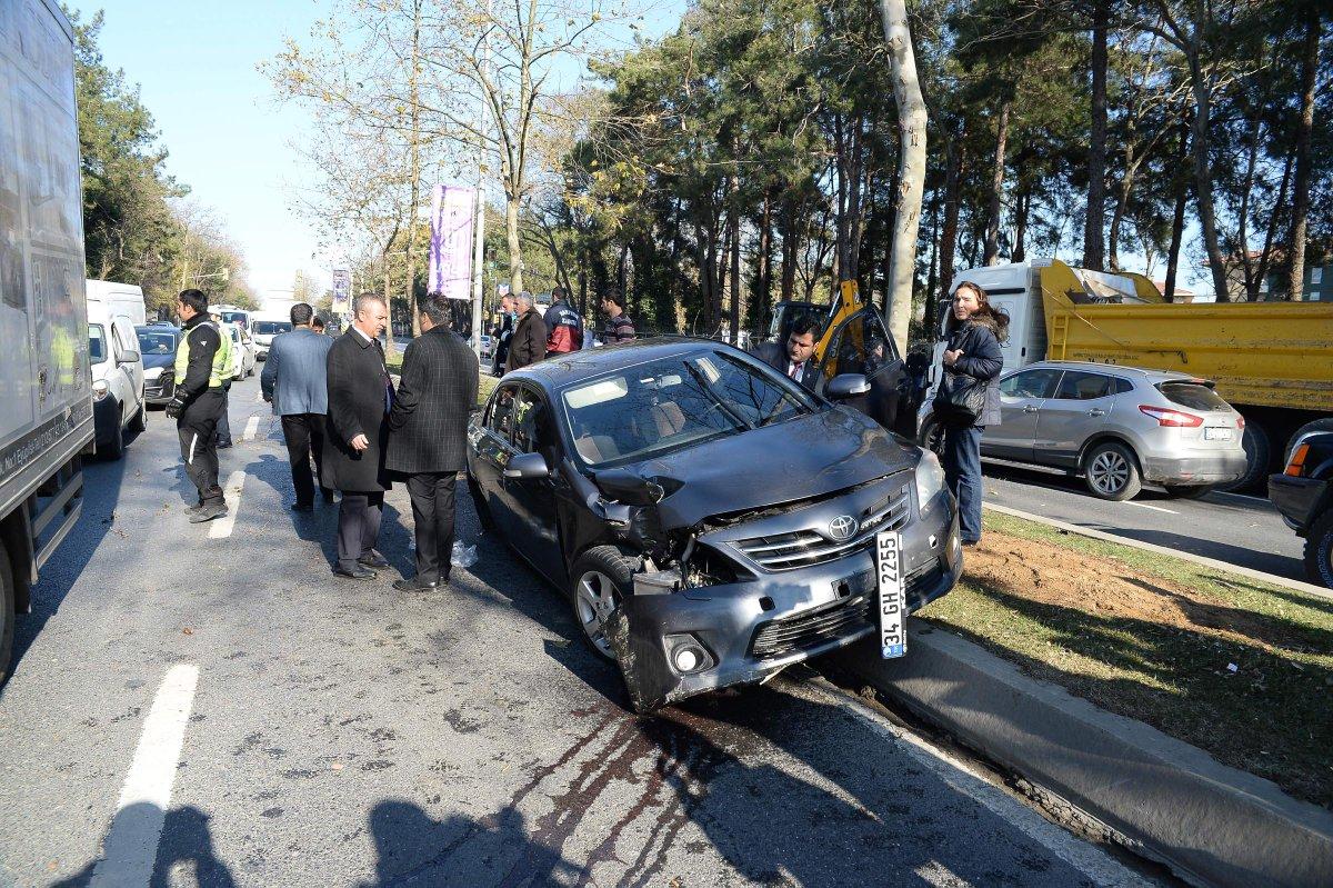 Erdoğan'ın konvoyunda kaza