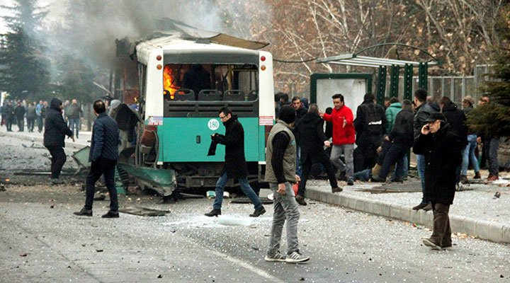 Kayseri'de askerleri taşıyan otobüsün şoförü gözaltına alındı