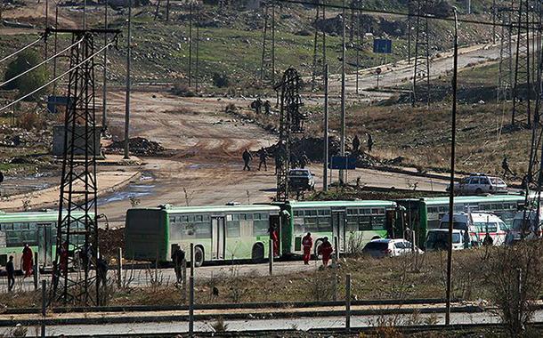 Son konvoy da Halep'ten ayrıldı