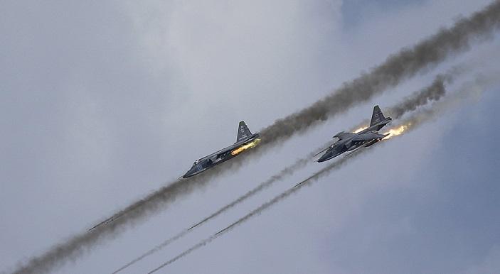 Rus savaş uçaklarından TSK'ya destek