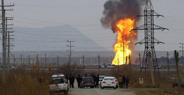 Azerbaycan'da doğalgaz boru hattında patlama