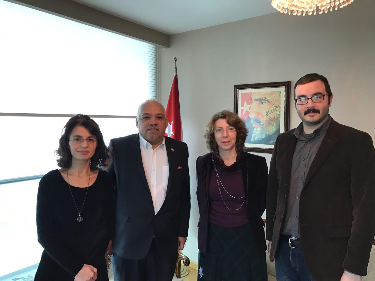 TKH'den Küba Büyükelçiliği'ne ziyaret