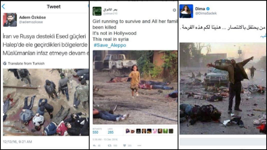 Gericilerin Halep sahtekarlıkları: İşte ortaya çıkan yalan paylaşımlar