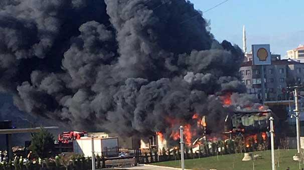 İşçilerin kaldığı barakalarda yangın: Harita teknisyeni hayatını kaybetti