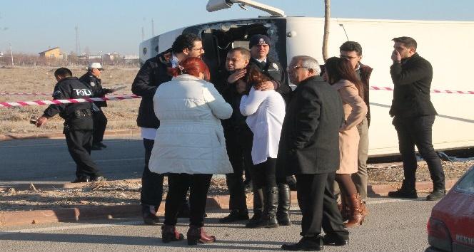 Konya'da feci kaza: Öğrencileri taşıyan servis, kamyon ile çarpıştı