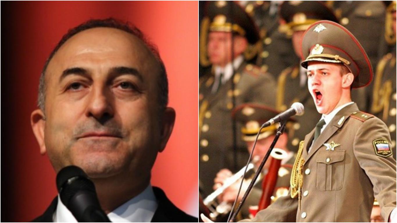 Çavuşoğlu, 64 üyesini kaybeden Kızıl Ordu Korosu anısına yapılan konserde