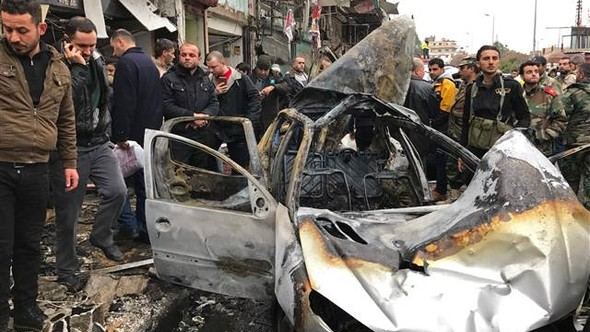 Lazkiye'de bombalı araç saldırısı: Çok sayıda ölü ve yaralı var