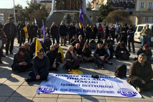 KESK'ten İstanbul'da ihraçlara karşı eylem