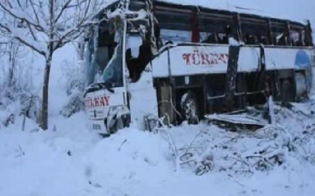 Sinop'ta yolcu otobüsü şarampole yuvarlandı: 4 ölü, 27 yaralı