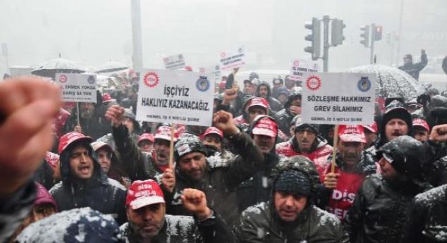 İzmir'de 195 işçi greve başladı