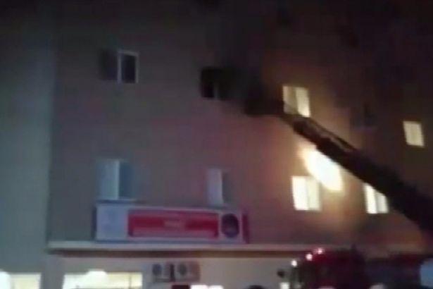 İstanbul'da kız öğrenci yurdunda yangın