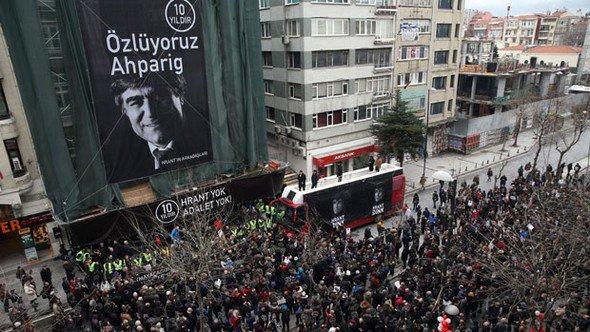 Hrant Dink öldürülüşünün 10. yılında anıldı