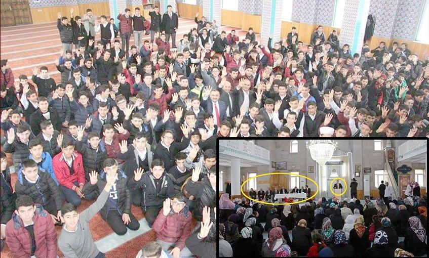AKP'li başkan liselileri camiye toplayıp propaganda yaptı!