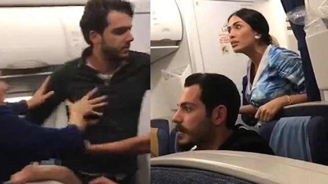 VİDEO | Beyrut-Londra uçağında çıkan kavga İstanbul'a indirdi!