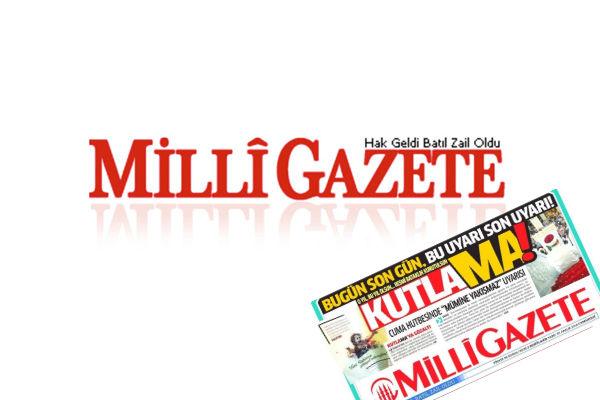 Adım adım katliama: Milli Gazete dün