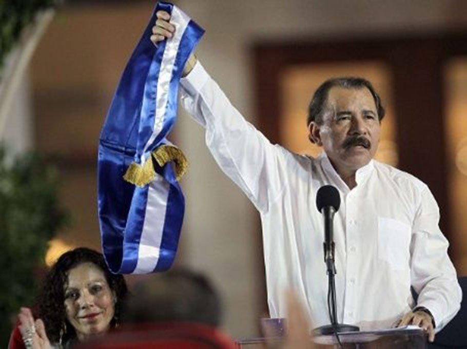 Sandinista lideri Daniel Ortega üçüncü kez yemin etti