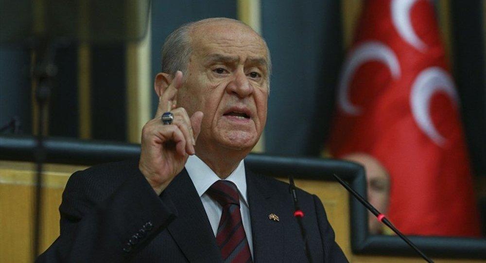 Bahçeli facia açıklamasında da 'başkanlık sistemi'ni övdü
