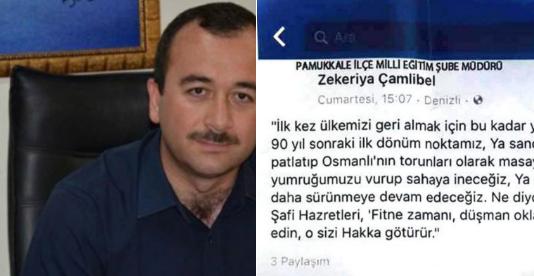 Eğitim şube müdüründen Cumhuriyet düşmanı paylaşım: Osmanlı özlemini 'beğen'en beğenene!
