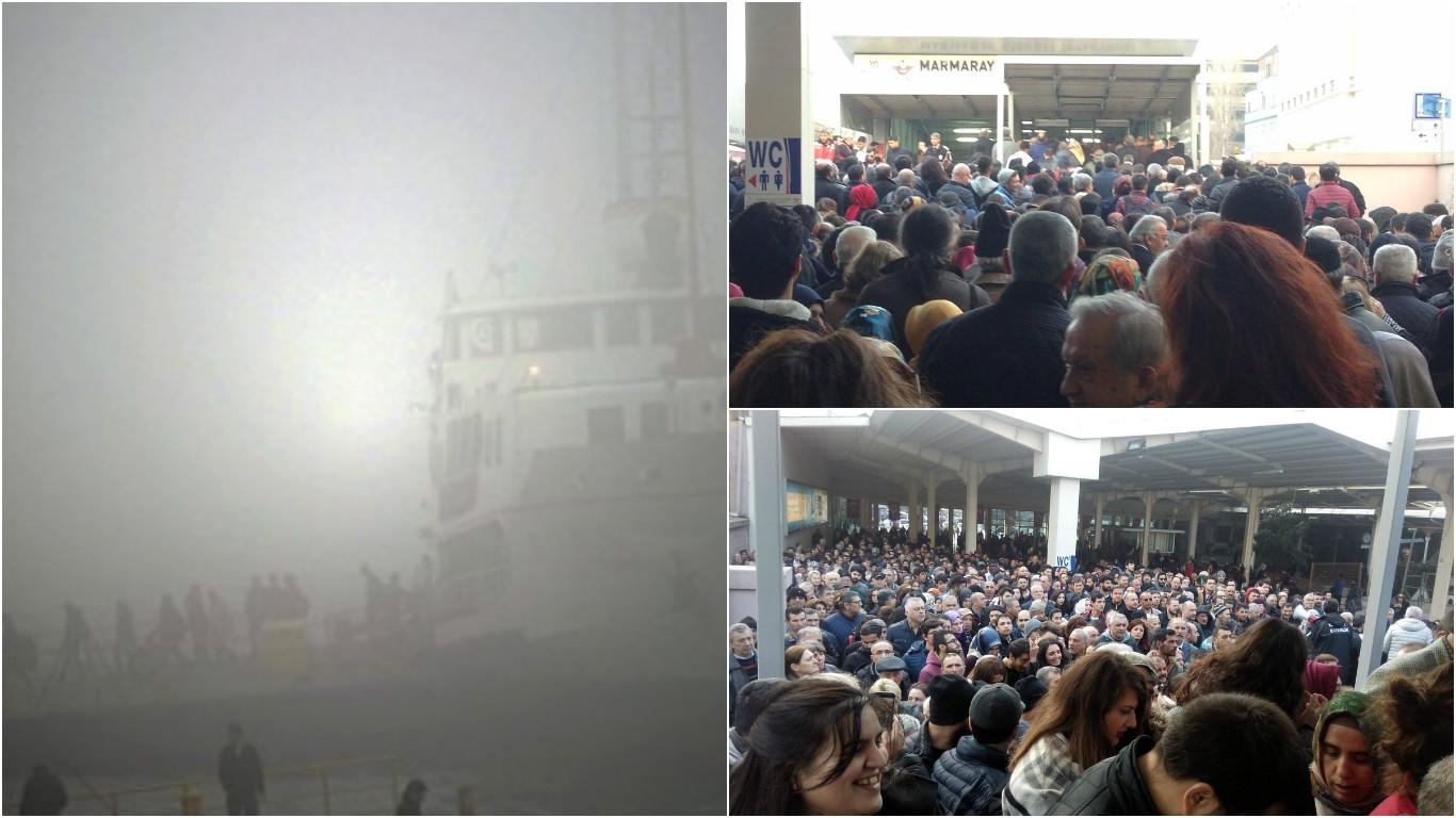 İstanbul'da mesai çıkışı ulaşım kabusa döndü: Marmaray istasyonlarında dev kuyruklar...