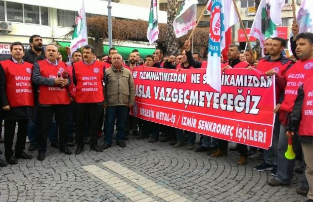 Birleşik Metal-İş Sendikası'ndan İzmir'de eylem