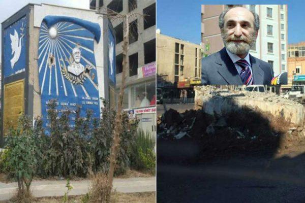 Cizre'de kayyum Orhan Doğan anıtını yıktı!