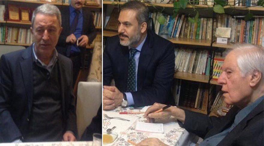 Hulusi Akar ve Hakan Fidan'ın Cumhuriyet düşmanı yazarı ziyaretinde'aşk acısı' konuşulmuş!