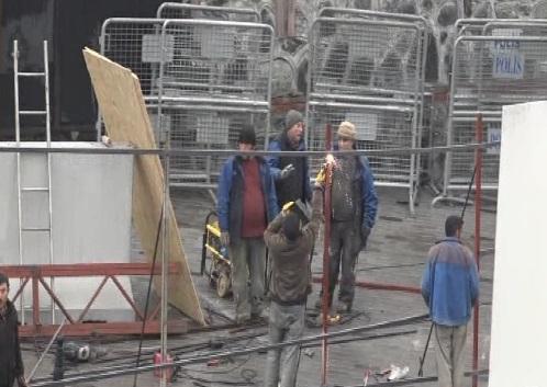 Taksim'e cami için şantiye kuruluyor!