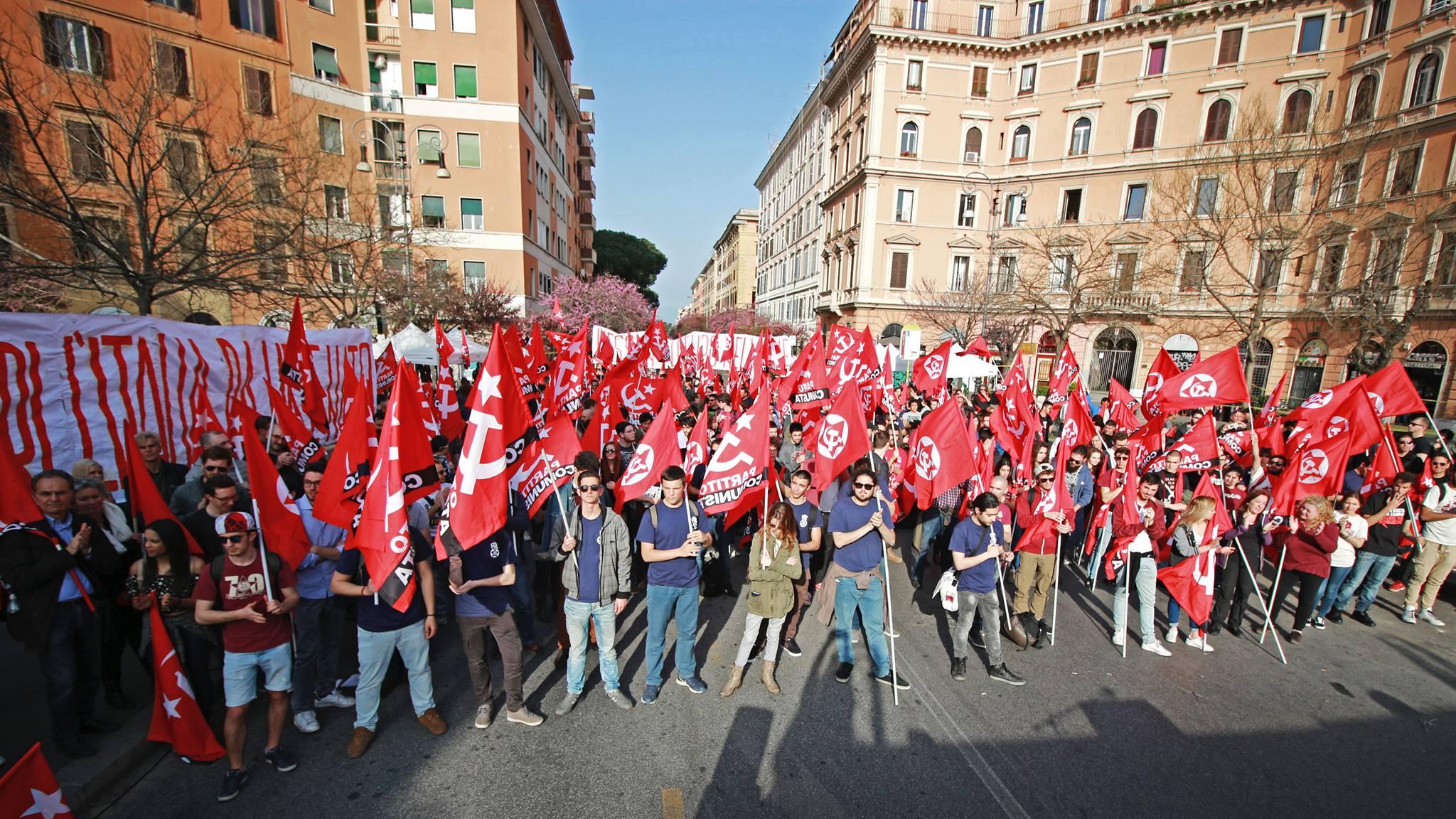 İtalyan komünistlerinden AB karşıtı miting