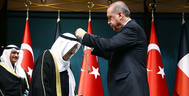 Erdoğan'dan Kuveyt Emiri'ne devlet nişanı: