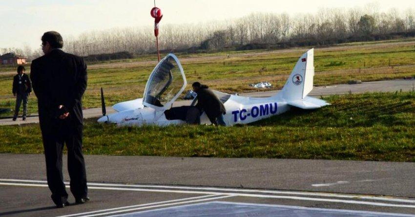 Samsun'da eğitim uçağı düştü