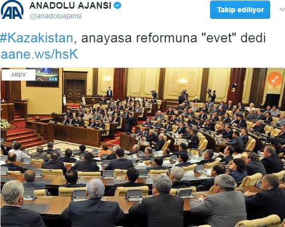Anadolu Ajansı'ndan yalnız başlık okuyup geçenler için'Evet' haberi