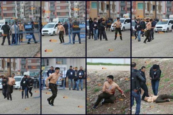 Diyarbakır'da polisin vurduğu gencin kare kare vurulma anı ortaya çıktı
