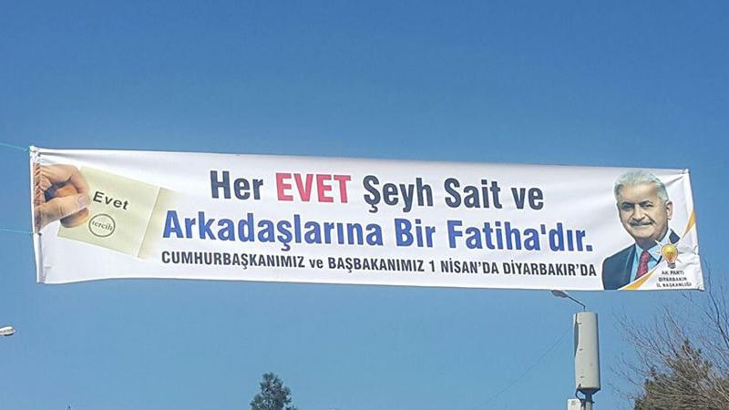 İşte hilafet sevdalıları: Şeyh Sait afişi asıp'Evet' oyu istediler!