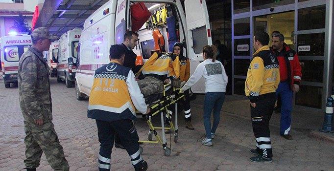 Suriye sınırında mayın patladı, yaralılar var