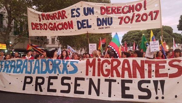 Arjantin'de göçmenlerin hakları için büyük eylem