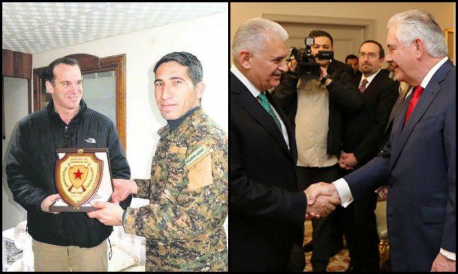 ABD Dışişleri Bakanı Tillerson Ankara'ya sömürge valisi McGurk ile birlikte geldi