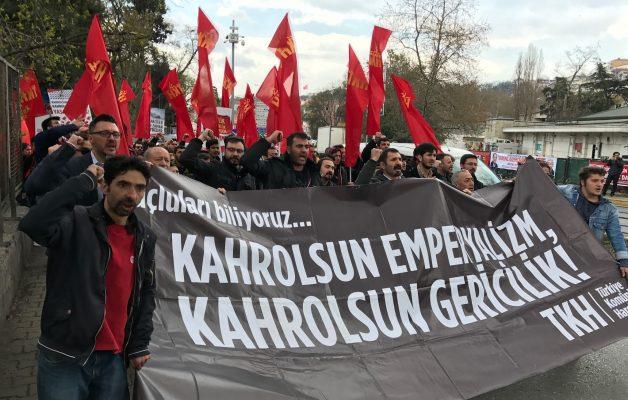Komünistlerden ABD Konsolosluğu önünde eylem: Katil ABD Ortadoğu'dan defol!
