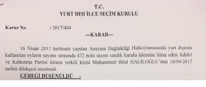 YSK Başkanı buna ne diyecek? Yurtdışındaki seçim kurulu mühürsüz oyları geçersiz ilan etti!
