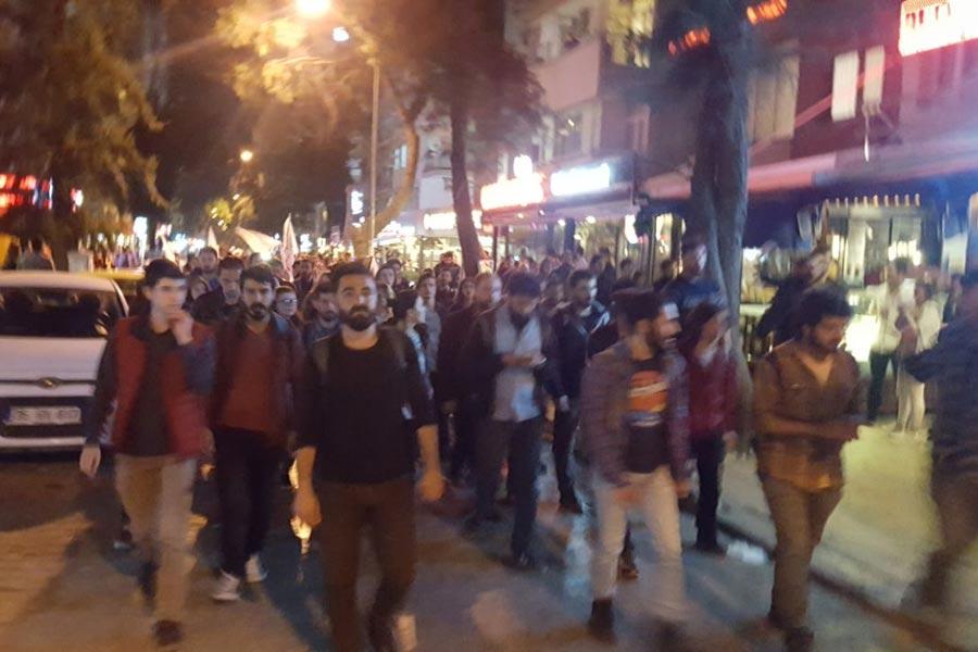 İzmir'de protesto yürüyüşüne polis saldırısı ve gözaltı