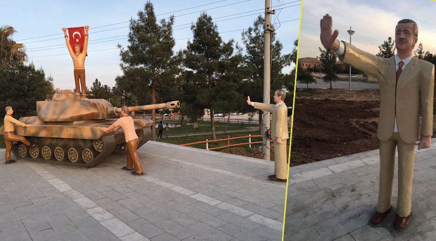 Heykelciliğin büyük kaybı: Erdoğan'ın tanka 'dur!' diyen heykeli de artık yok