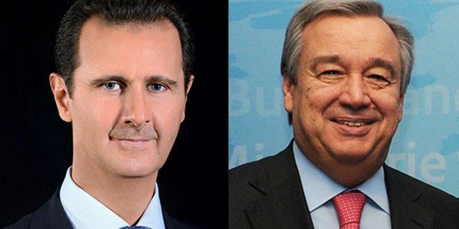 BM Genel Sekreteri'nden Esad'a kutlama mesajı