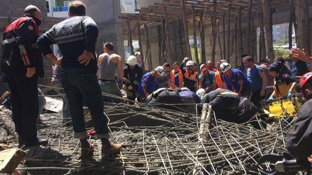 Samsun'da cami inşaatında göçük: 4 işçi hayatını kaybetti!