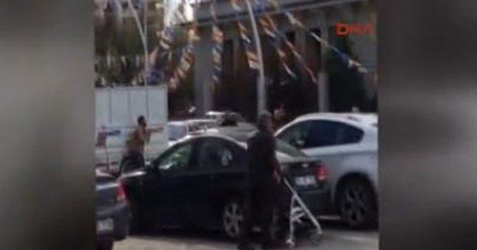 AKP Genel Merkezi önünde pompalı tüfekle intihar girişimi