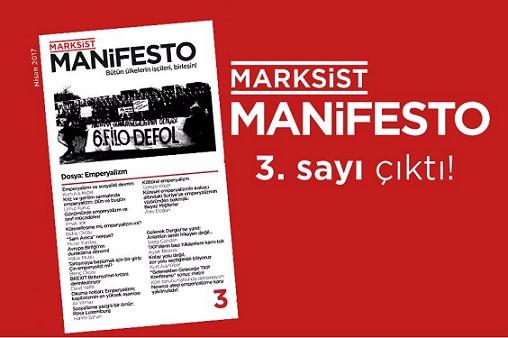 Marksist Manifesto'nun yeni sayısı çıktı