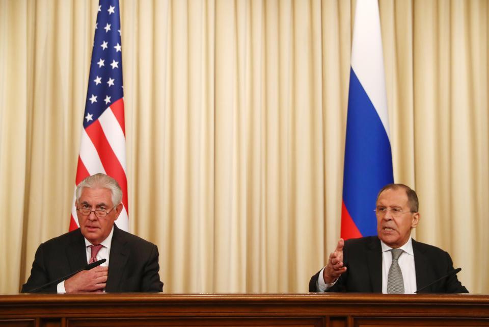 Lavrov ve Tillerson ortak basın toplantısı düzenledi