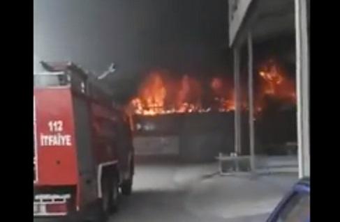 VİDEO | Isparta'da sanayi sitesinde büyük yangın