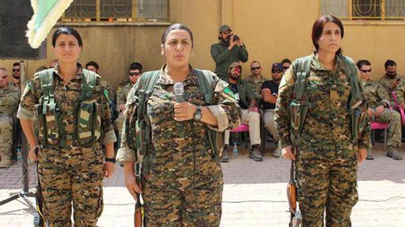 ABD askerleri YPG'nin yemin töreninde